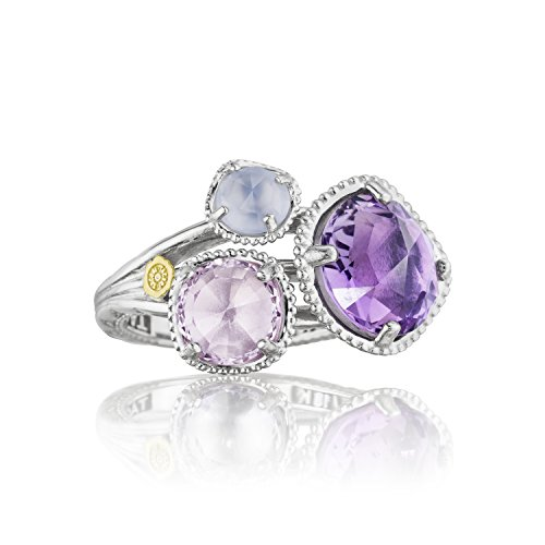 Tacori SR137130126 Lilac Blossoms Sterling Silver Multi Stone Ring, Size 7 by Tacori