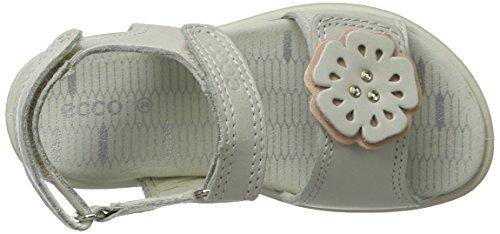 Ecco Mädchen Tilda Offene Sandalen mit Keilabsatz Weiß (59573WHITE/ROSE DUST)
