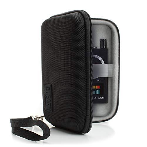 (USA Gear RF Detector & Camera Finder Case - Included Detachable Wrist Strap and Interior Mesh Pocket - Compatible w/Hidden Camera Detector Finder, RF Bug Detector, Spy Camera Detector Device,)