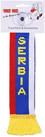 Amazon.es: TRUCK DUCK® Camiones Auto Mini - Serbia Mini - Banderín Bandera ventosa Espejo Decoración