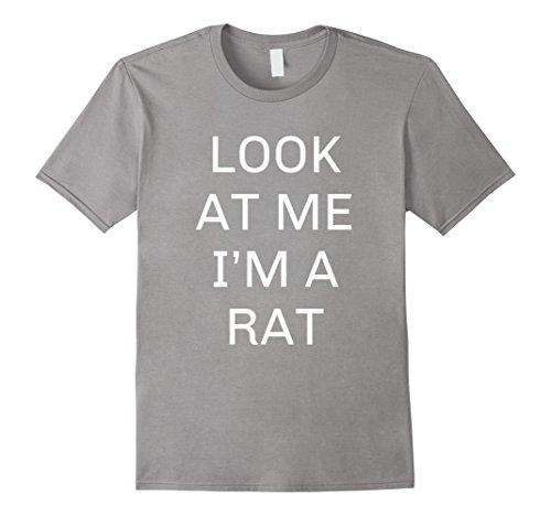 Mens I'm a Rat Halloween Costume Shirt Women Men Kids Large Slate