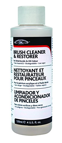 Winsor & Newton Brush Cleaner & Restorer - 4 oz. bottle (Paint Cleaner Brush)