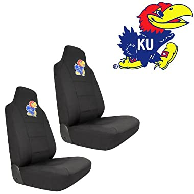KU University of Kansas Jayhawks Car Truck SUV Universal-Fit Bucket Seat Covers - Pair