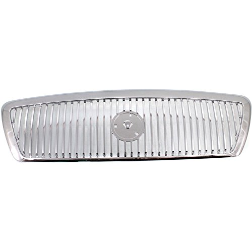 - Evan-Fischer EVA17772028641 Grille for Mercury Grand Marquis 03-05 Chrome Monotone Replaces Partslink# FO1200406