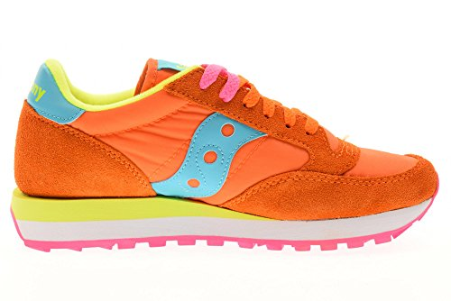 en Jazz Blue Daim Beige Chaussures Orange Femme Original Bright Sneakers Saucony Baskets wgIgTC