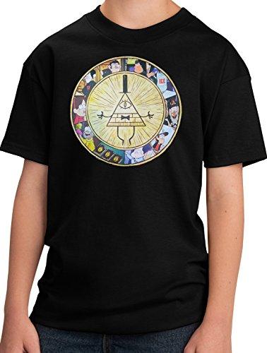 PubliciTeeZ Bill Cipher Gravity Falls Youth T-Shirt (L, Black)