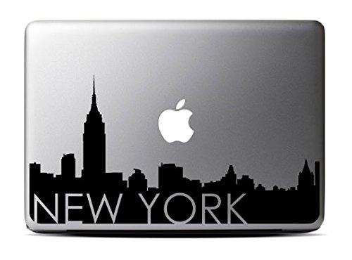 New York Skyline (13 inch) Black Macbook Decal #3 - Laptop Decal