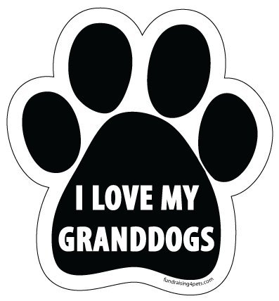 I Love My Granddogs Paw - Animal Car Magnets
