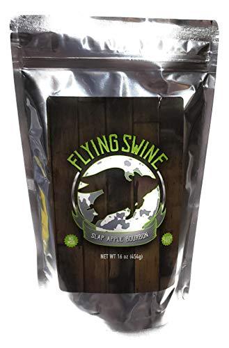 Flying Swine Slap Apple Bourbon BBQ Rub 16 Oz - Award Winning Butt Rub Seasoning & Grilling Spice - Great for Smoking Meat, Rib Rub, Brisket Rub, Pulled Pork & Chicken Marinade - No MSG & Gluten Free (Best Pork Rub For Pulled Pork)