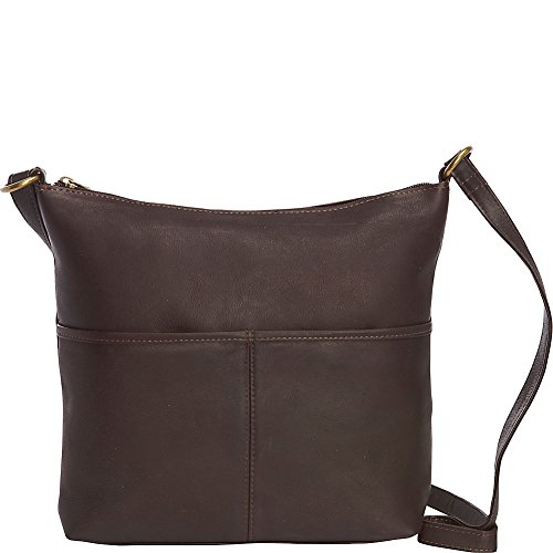 le-donne-leather-carefree-top-zip-tote-cafe