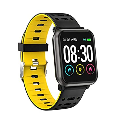 HOLACZES P11 Color Screen Smart Watch IP68 Waterproof Support Heart Rate Monitor Blood Pressure Blood Oxygen Information Push Sports Wristband Estimated Price £22.60 -