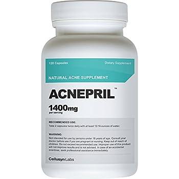 Amazon.com : Cellusyn Acnepril Natural Acne Supplement