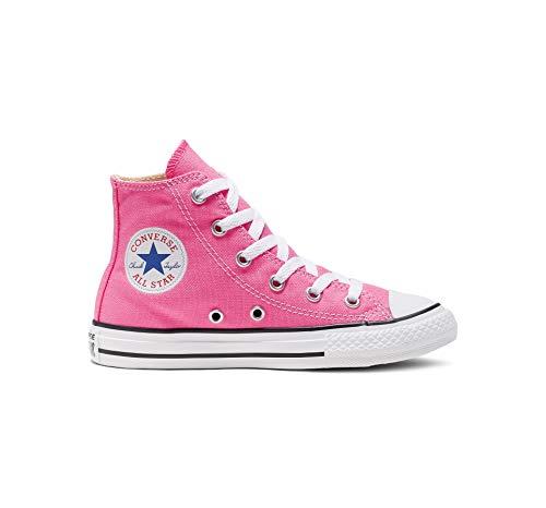 Converse Unisex-Child Chuck Taylor All Star  High Top Sneaker, pink, 1.5 M US Little Kid