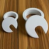 Xntun 6 Pack 1-3/8 Inch Desk Grommet, Plastic Desk
