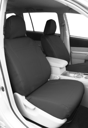CalTrend Front Row Bucket Custom Fit Seat Cover for Select Chevrolet Silverado/GMC Sierra Models - DuraPlus (Charcoal)