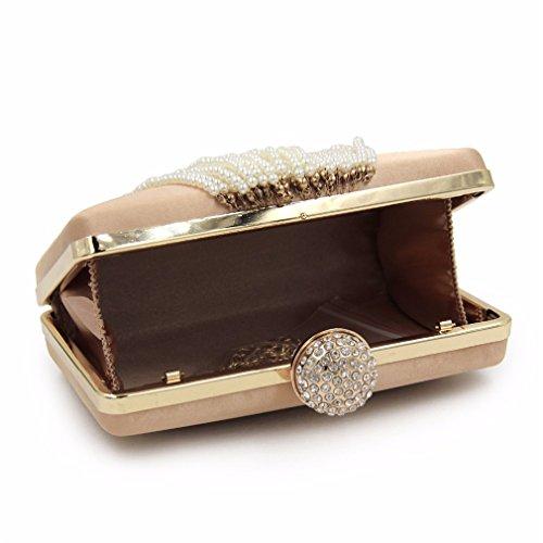 Ragazza Pochette oro frizione donna per donna sera in da donna ragazza Borse perle Rose sposa da Borse di con da da Borsa nappe da con qqgTw4Zr