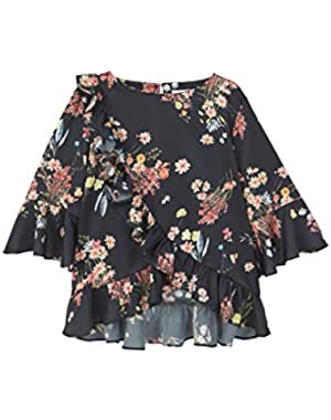 Mango Women's Wrap Floral Blouse