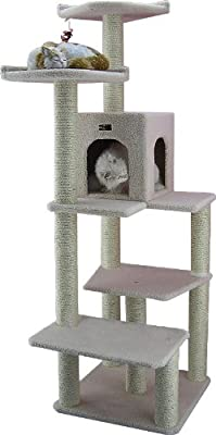 Armarkat Cat tree Furniture Condo, Height- 60-Inch to 70-Inch