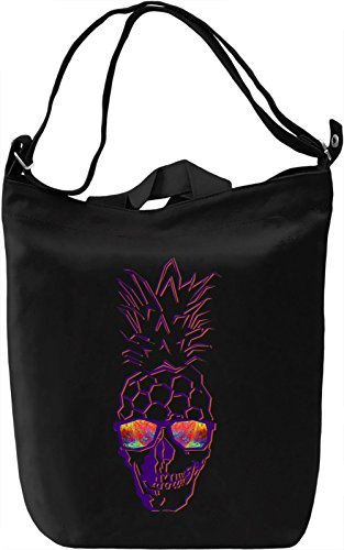Pineapple Skull Borsa Giornaliera Canvas Canvas Day Bag| 100% Premium Cotton Canvas| DTG Printing|