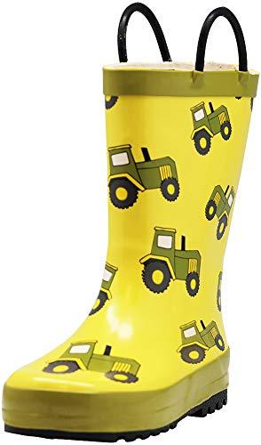- NORTY - Boys Tractor Print Waterproof Rainboot, Yellow 40904-11MUSLittleKid