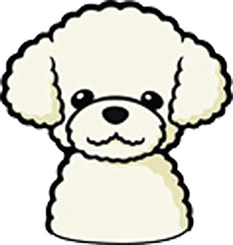 Amazon Com Cute Adorable Poodle Maltipoo Puffy Poofy Puppy Dog Cartoon Emoji Vinyl Sticker 2 Tall White Cream Arts Crafts Sewing
