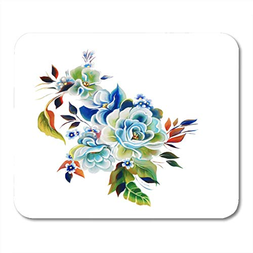 (Mouse Pads Blossom Colorful Abstract Flowers Rose One Stroke Painting Beautiful Color Mouse Pad for Notebooks,Desktop Computers Mouse Mats, Office Supplies)