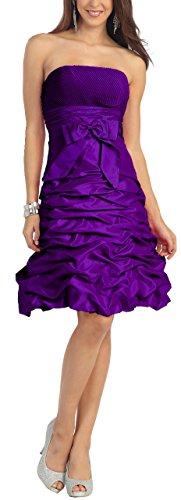 NL505 Standesamtkleid Purple Cocktailkleid Nachtigall Brautjungfernkleid Lerche Abendkleid Brautkleid kurz xqg4OBHUw