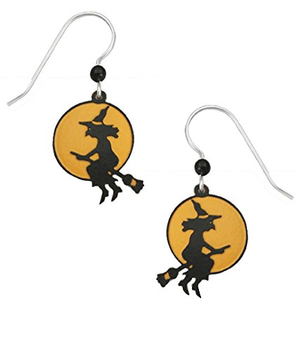 Sienna Sky Halloween Witch Silhouette Moon Earrings -