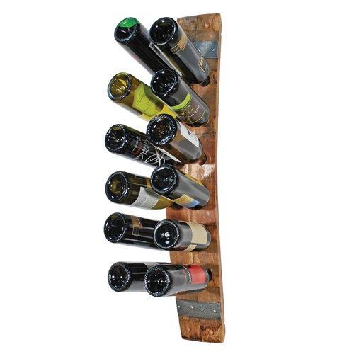 True Fabrications Oak 12 Bottle Wine Barrel Stave Wall Mounted Wine Rack Review