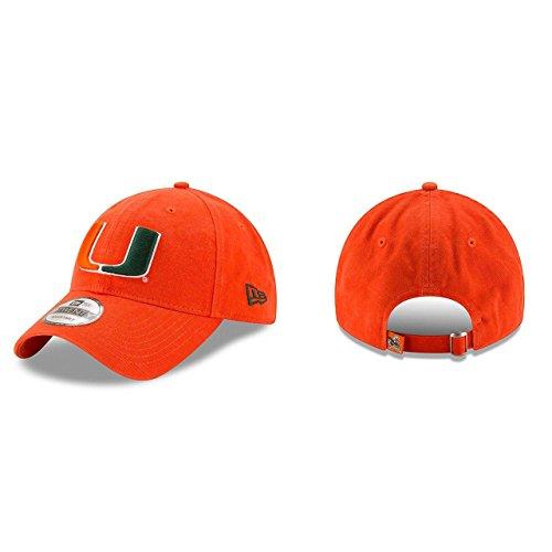 New Era Men's Miami Hurricanes Core Classic Orange One Size Fits All