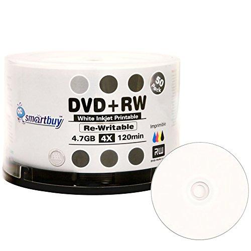 50 Pack Smartbuy Blank DVD+RW