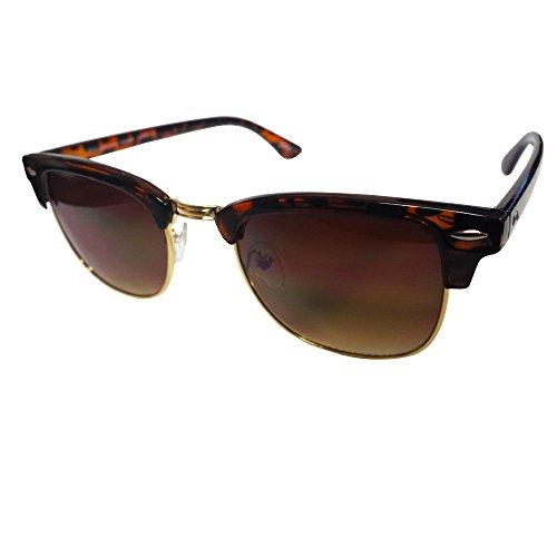 Hipster Clubmaster Sunglasses (Tortoise Shell)