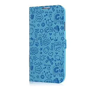 Mini - Flip PU Folio leather full body case for Samsung Galaxy S4/I9500 ,Color: Red