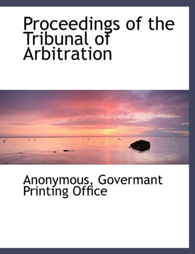 Download Proceedings of the Tribunal of Arbitration pdf