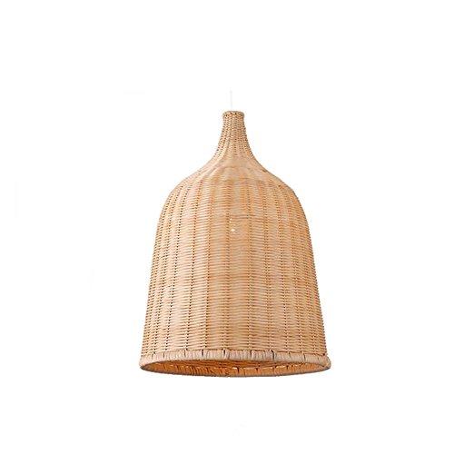 Bamboo Chandelier,Southeast Asia Tropical DIY Wicker Rattan Shades Weave Hanging Light ,Restaurant At The Hotel Balcony Bamboo Craft Art Bird's Nest Decorative Pendant Lamp (Size : 3040cm) - Rattan Shade