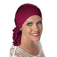 Slip-On Scarf - Pre-Tied Scarf - Head Scarves I Cancer Chemo Scarfs Wine