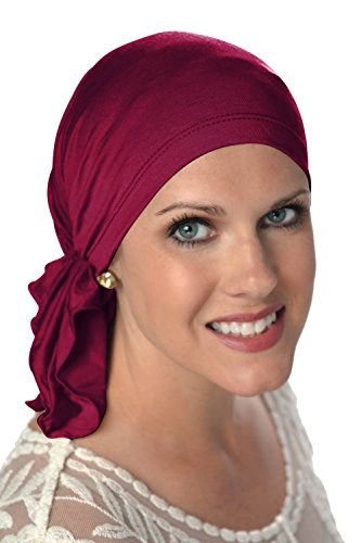 Headcovers Unlimited Slip-On Scarf- Caps for Women with Chemo Cancer Hair Loss Wine