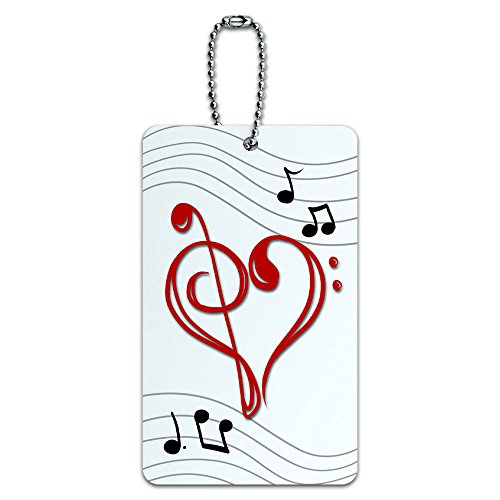 Music Heart Luggage Suitcase Carry
