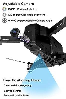 LOHOME SJRC F11 Drone GPS Drone 5G WiFi FPV RC Quadcopter, 1080P Camera Record Video App Control Foldable Drone Follow Me One-Key RTH Track Flight Headless Brushless Motor, 2 Battery, 1 Portable Box