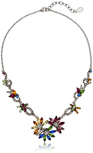 Ben-Amun Jewelry Crystal Collage Swarovski Multi-Color Pendant Necklace, 18