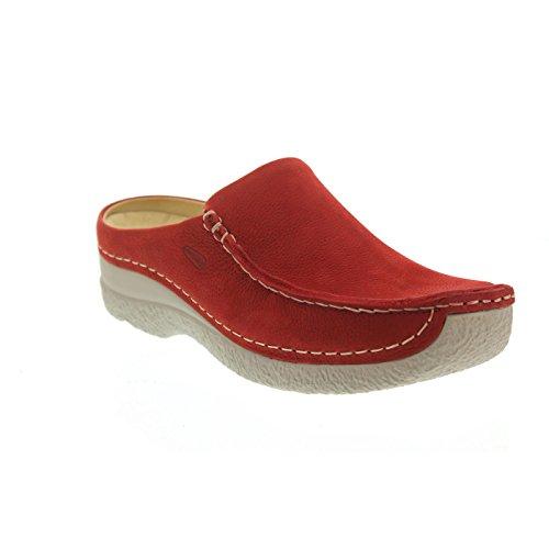 Slide Seamy Comfort Wolky Sabots Rouge PqtEwgxw