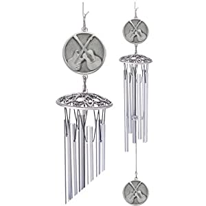 1pc, Pewter Guitars Wind Chime