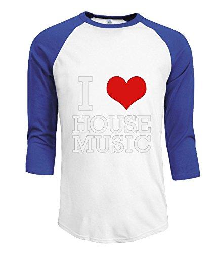 Fatal Decision Men's casual 3/4 T-shirt I Love House Music