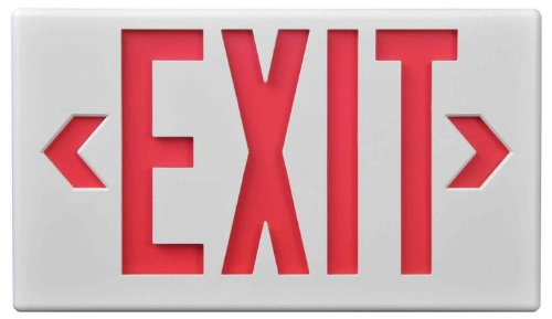 UPC 080083532780, Sure-Lites LPX7BK LED Commercial Exit, Black Housing, Universal Face, Red and Green Letters, Self-Powered