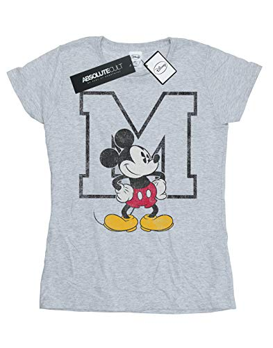 Sport Disney Mouse Mickey Maglietta Classic M Donna Grigio wqzwBTx