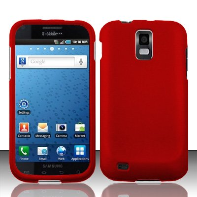Importer520 Rubberized Snap-On Hard Skin Protector Case Cover for For (T-Mobile) Samsung Hercules T989 Galaxy S2 - Red