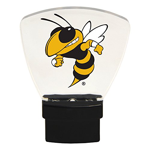 Authentic Street Signs NCAA Officially Licensed, LED NIGHT LIGHT, Super Energy Efficient-Prime Power Saving 0.5 watt, Plug In-Great Sports Fan gift for Adults-Babies-Kids (Georgia Tech Yellow Jackets)