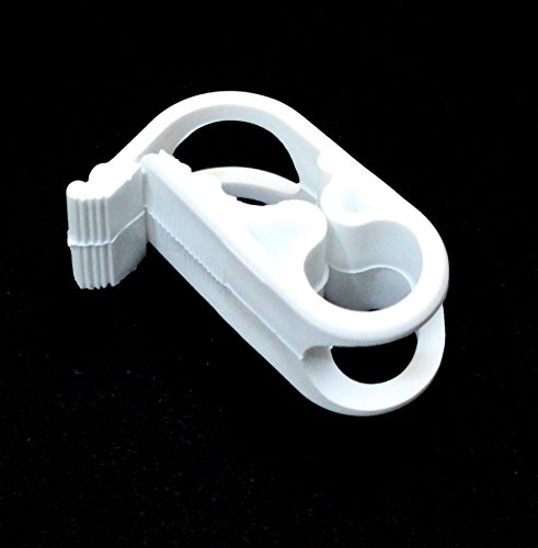 Plastic Tubing Clamps (10 Pack Siphon Hose Shut Off Clamp Small Plastic Clamp Fits 7/16 in O.d.tubing Plastic Tubing Mid-range Clamp)