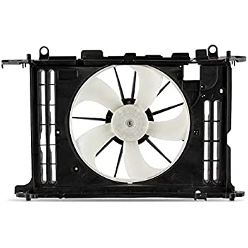 Dual Radiator and Condenser Fan Assembly Cooling Direct For//Fit TO3115156 09-13 Toyota Corolla Matrix 1.8L WITHOUT Cooling Module Shroud