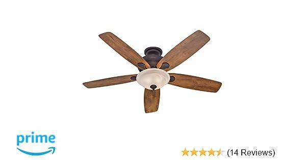 Hunter 60 regalia new bronze ceiling fan with light amazon aloadofball Gallery